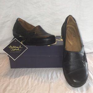NIB Natural Soul Black Flat Loafers Size 7.5M